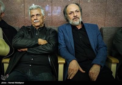 امین تارخ و محمد بزرگنیا در مراسم یادبود زندهیاد علی معلم