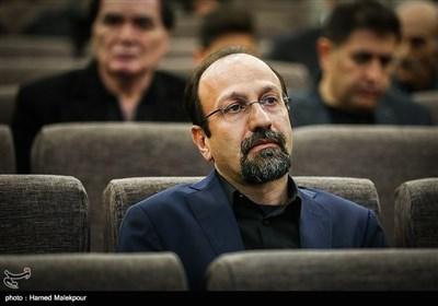 اصغر فرهادی در مراسم یادبود زندهیاد علی معلم