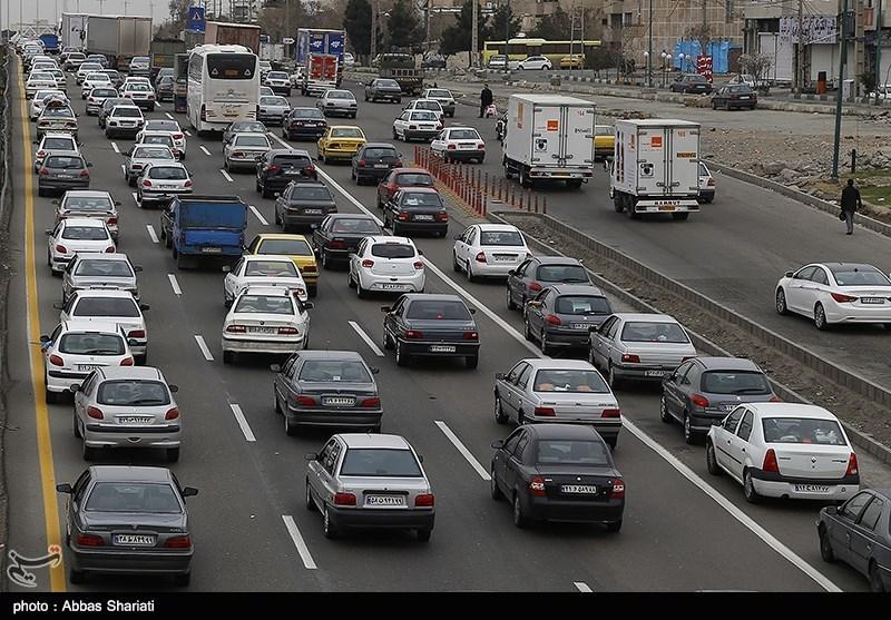 ترافیک نیمه سنگین محور کرج - قزوین