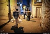 توزیع غذا نذری در محلات محروم تهران