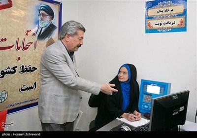 غلامرضا انصاری در اولین روز ثبتنام انتخابات شورای شهر تهران