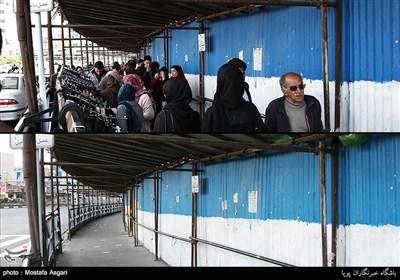 این تصاویر مقایسه ایست بین تهران در 28 اسفند 1395 و یکم فروردین 1396 در برخی از نقاط تهران.