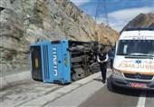 واژگونی اتوبوس در محور زاهدان- زابل