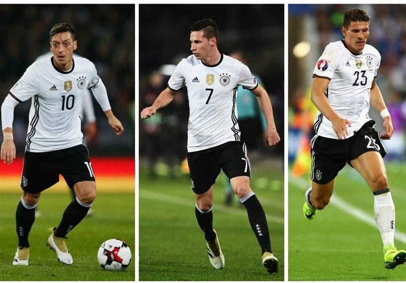 اوزیل، دراکسلر و گومز هم بازی آلمان - انگلیس را از دست دادند