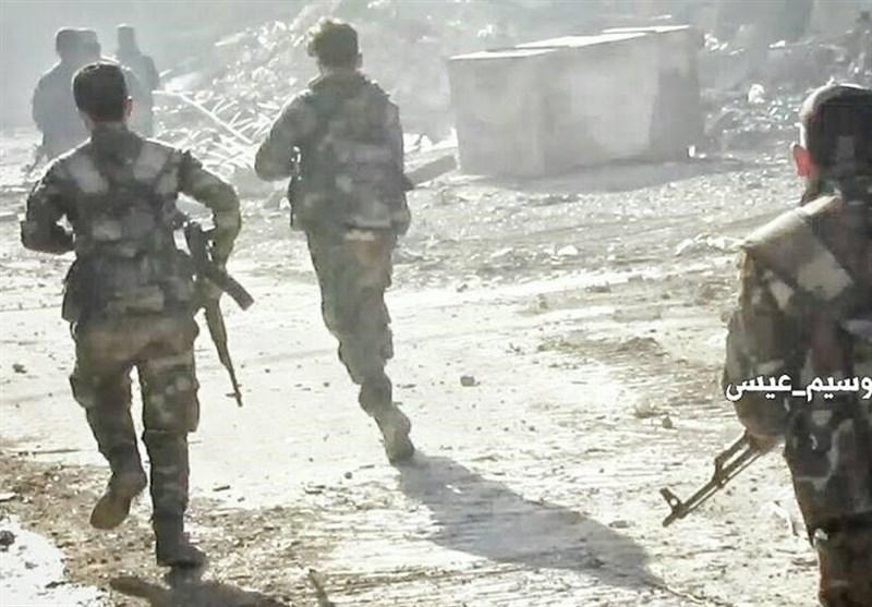 テロリストとシリア軍の衝突