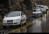 باران و ترافیک در محورهای شمالی / هراز و چالوس یکطرفه میشوند