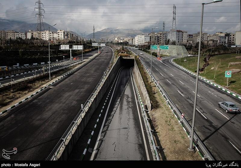 خلوتی بزرگراههای غرب تهران