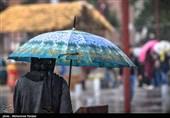 بارش باران بهاری در رشت