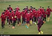 تمرین تیم ملی فوتبال چین پیش از دیدار برابر ایران