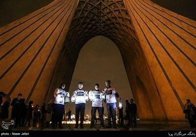 روز جهانی ساعت زمین - میدان آزادی ، پل طبیعت و برج میلاد