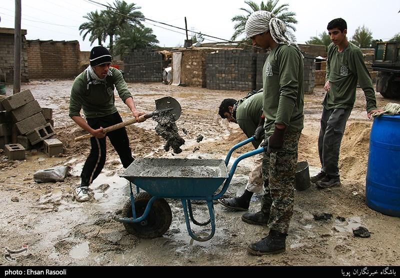 گروههای جهادی برای محرومیتزدایی در خوزستان خدمت رسانی میکنند