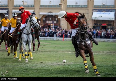 Game of Polo Played at Isfahan's Naqsh-e Jahan Square