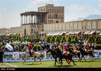 Game of Polo Played at Isfahan's Naqsh-e Jahan Square