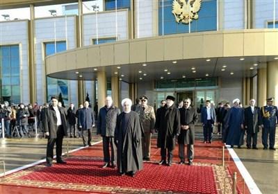 روحانی وارد مسکو شد + برنامه سفر