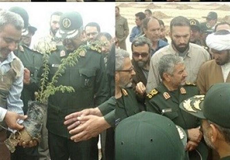 فرمانده کل سپاه از کانونهای فوق بحرانی ریزگردها خوزستان بازدید کرد
