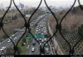 نمایی از ترافیک خیابان های تهران
