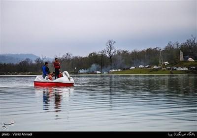 مسافران نوروزی در سواحل خزر