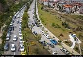 حضور گسترده گردشگران در «دراسله» سوادکوه/ خطر کرونا بیخ گوشِ مسافران + فیلم