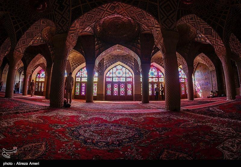 بالصور.. مسجد نصیر الملک فی شیراز