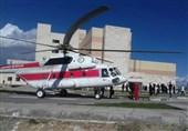 امدادرسانی هوایی به مصدومان حادثه تصادف در باغملک + تصاویر
