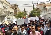 طلاب جامعة دمشق قالوا کلمتهم ضد العدوان الأمریکی على بلادهم + صور