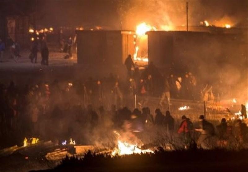 فرانس؛ افغان اور کرد پناہ گزینوں کے درمیان جھڑپیں، مہاجر کیمپ جل کر راکھ + ویڈیو اور تصاویر