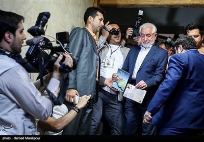 ورود سیدمحمد غرضی به وزارت کشور جهت ثبتنام در دوازدهمین دوره انتخابات ریاست جمهوری