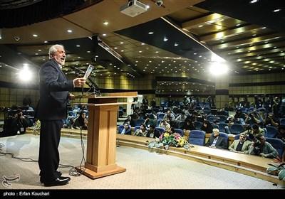 سیدمحمد غرضی در کنفراس خبری پس از ثبتنام در دوازدهمین دوره انتخابات ریاست جمهوری