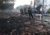 تصادف اتوبوس و تانکر سوخت فاجعه آفرید + فیلم و عکس