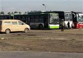 وصول 75 حافلة تقل أهالی الفوعة وکفریا إلى مناطق سیطرة الجیش السوری بحلب +صور