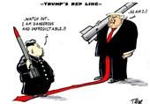 کاریکاتور/جدال ترامپ و رهبر کره شمالی