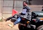 جوانان کشمیری سپر انسانی ارتش هند