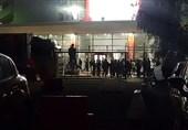 هواداران تیم انصاریفرد مسلح به چوب، سنگ و مواد آتشزا