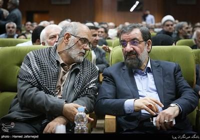 محسن رضایی دبیر مجمع تشخیص مصلحت نظام و سردار حسین الله کرم