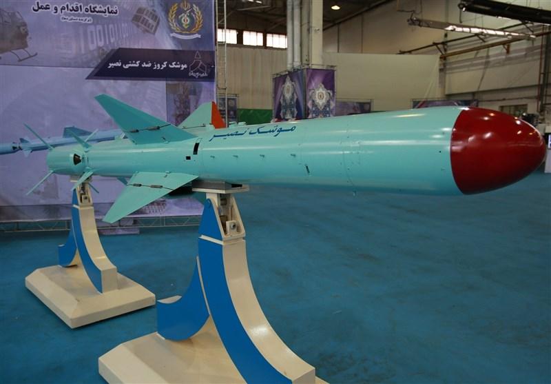 """صاروخ """"نصیر"""" لدیه قدرة على اصابة الاهداف بدقة وقدرة تدمیر کبیرة"""