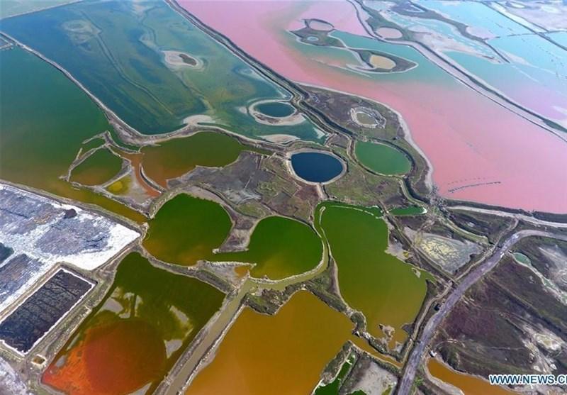 دریاچه نمک رنگارنگ+تصاویر