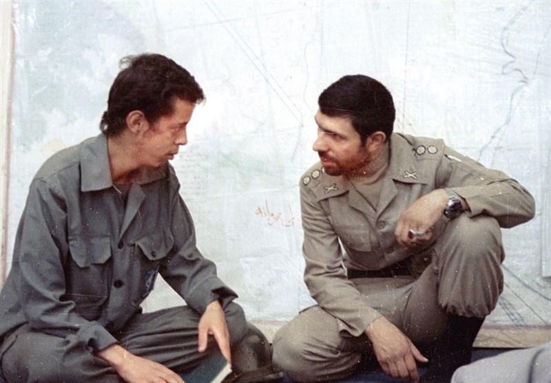 شهید صیاد شیرازی و شهید حسن باقری در یک قاب