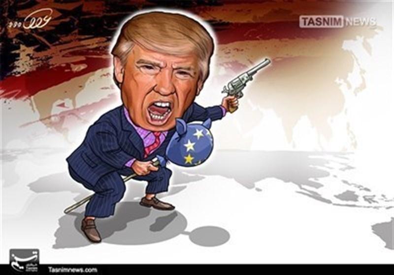 کاریکاتیر / العالم على کف ترامب!