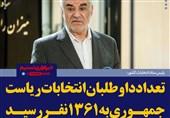 فتوتیتر/احمدی: تعداد داوطلبان انتخابات ریاست جمهوری به 1361 نفر رسید