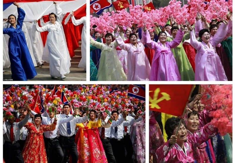 ظاهر عجیب شرکت کنندگان در رژه کره شمالی +تصاویر