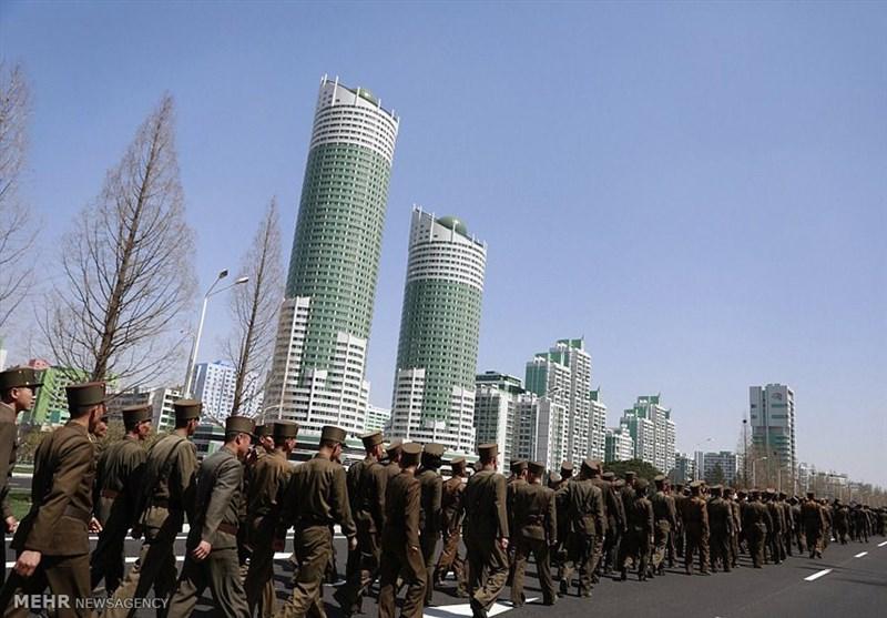عکس/مراسم افتتاح آسمان خراش ها در کره شمالی