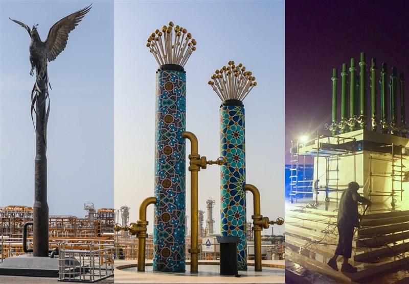 نمادسازی تشریفاتی برای افتتاح فازهای پارس جنوبی توسط روحانی+عکس