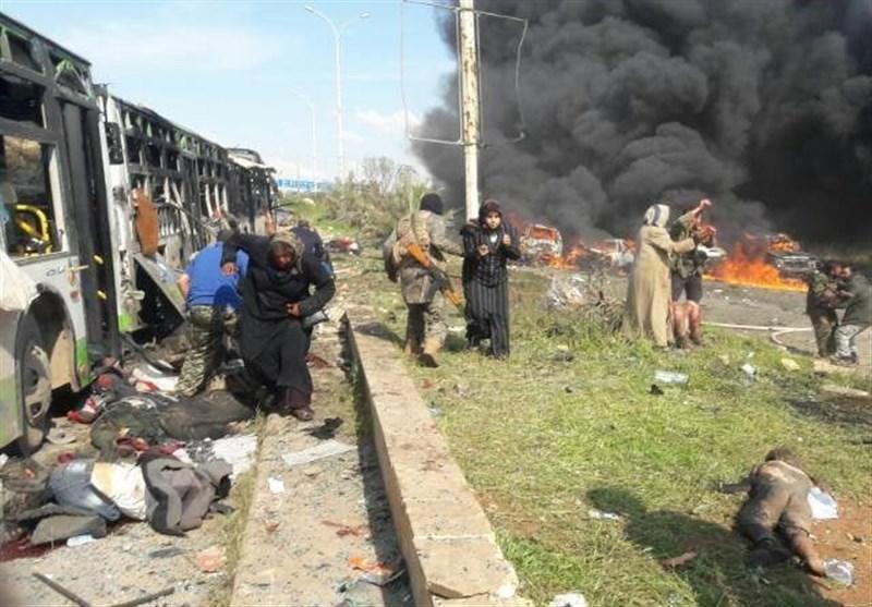 أکثر من 70 شهیداً وعشرات الجرحى جراء تفجیر ارهابی استهدف أهالی الفوعة وکفریا+صور جدیدة