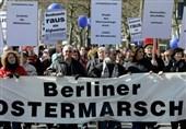 اعتراضات ضد جنگ و صادرات تسلیحات در سراسر آلمان برگزار شد