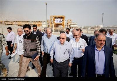 بازدید وزیر نفت از فازهای 17 و 18 پارس جنوبی