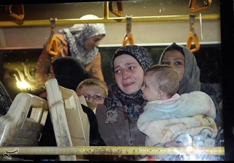 کفریا اور فوعہ سے مزید تین ہزار افراد حلب کی طرف روانہ/ تصویری رپورٹ