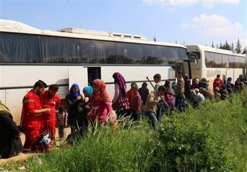 الدفعة الثانیة من اهالی کفریا والفوعة یصلون الى ریف حلب الغربی