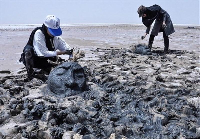 جشنواره ملی مجسمههای نمکی تالاب کجی نهبندان آغاز شد