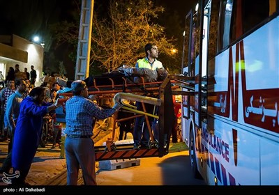 واژگونی اتوبوس در محور سبزوار- شاهرود