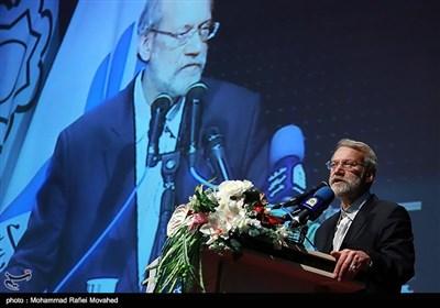 سخنرانی علی لاریجانی رئیس مجلس شورای اسلامی در همایش سهم من در امنیت و آرامش - قم